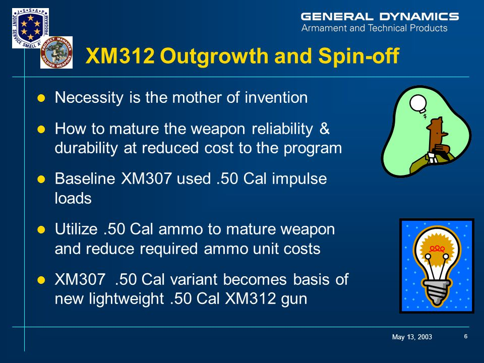 XM312 Outgrowth and Spin-off