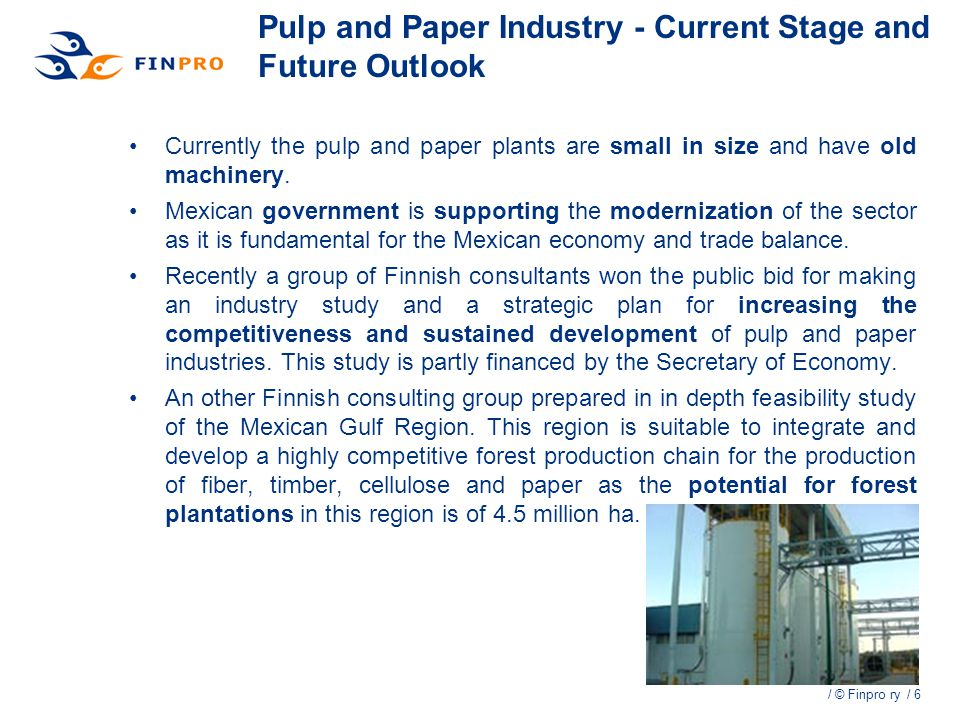 Pulp and Paper Industry - Current Stage and Future Outlook