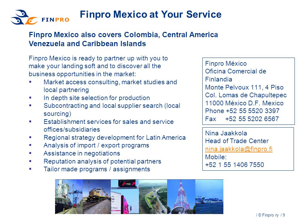 Finpro Mexico at Your Service
