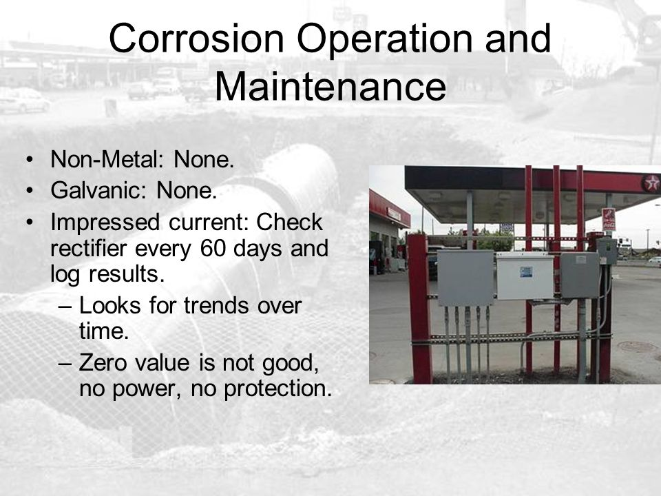 Corrosion Operation and Maintenance
