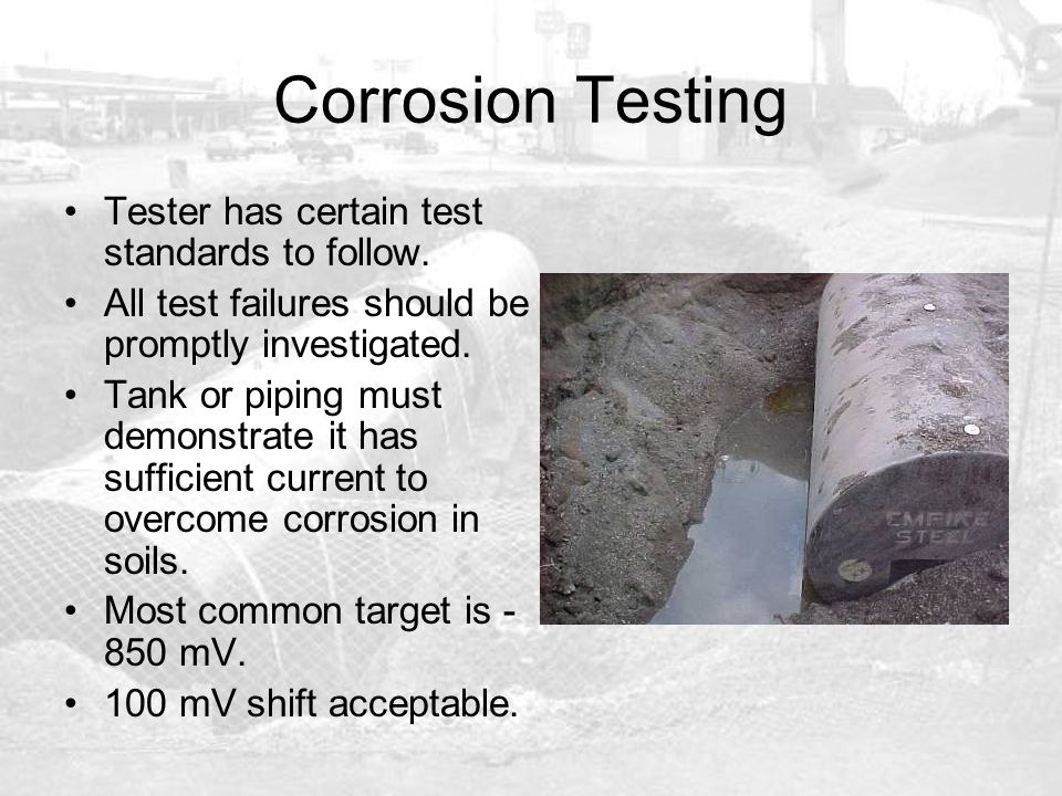 Corrosion Testing Tester has certain test standards to follow.