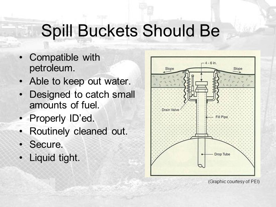 Spill Buckets Should Be