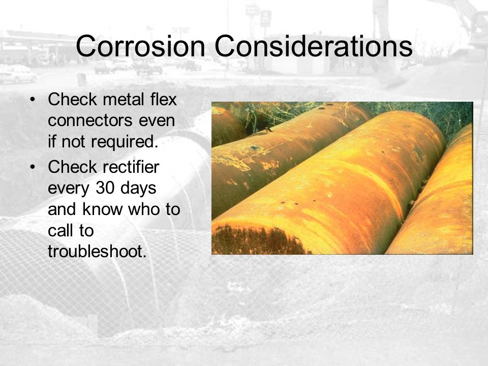 Corrosion Considerations