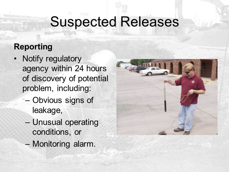 Suspected Releases Reporting