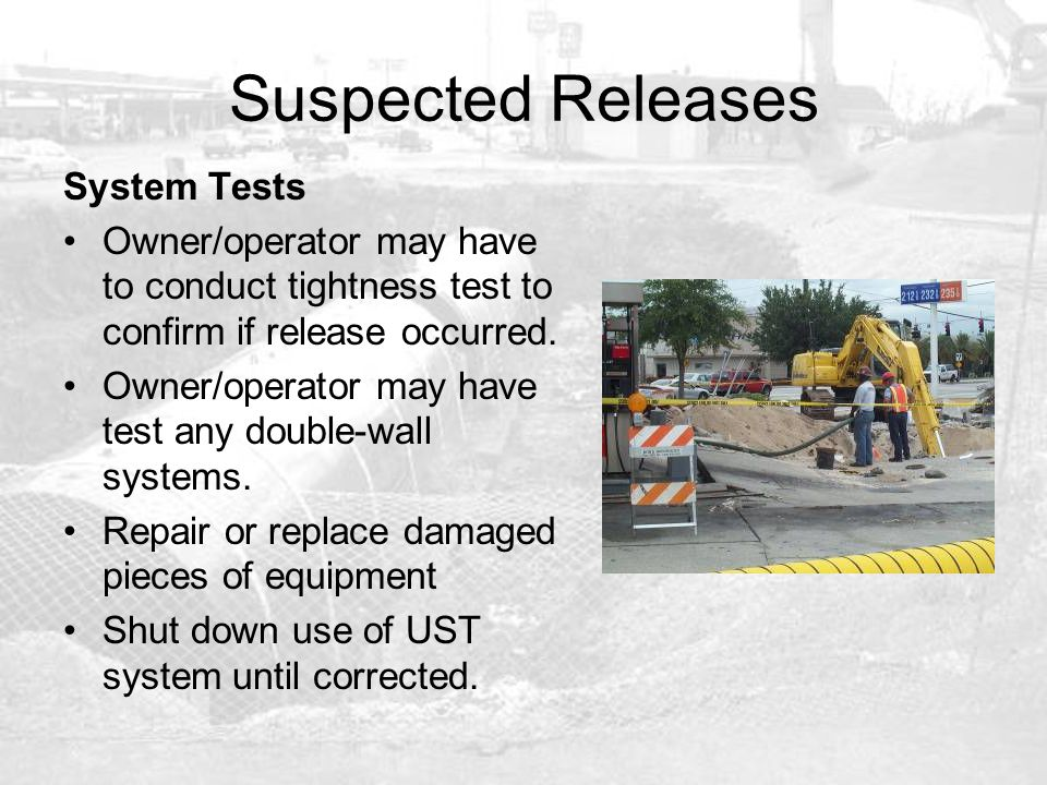 Suspected Releases System Tests