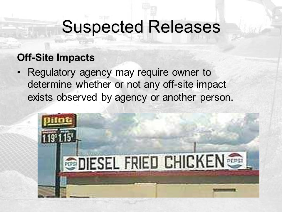 Suspected Releases Off-Site Impacts