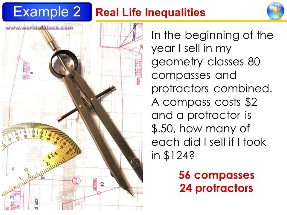 56 compasses 24 protractors