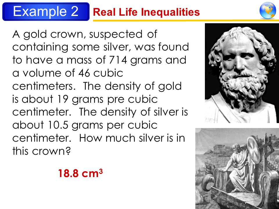 Example 2 Real Life Inequalities
