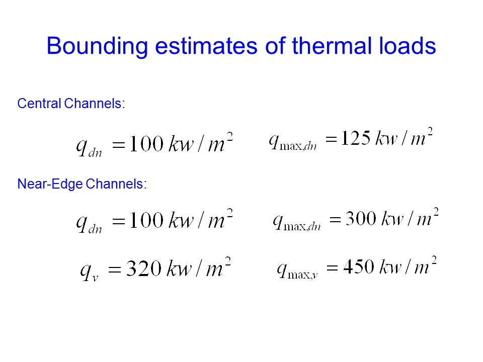 Bounding estimates of thermal loads