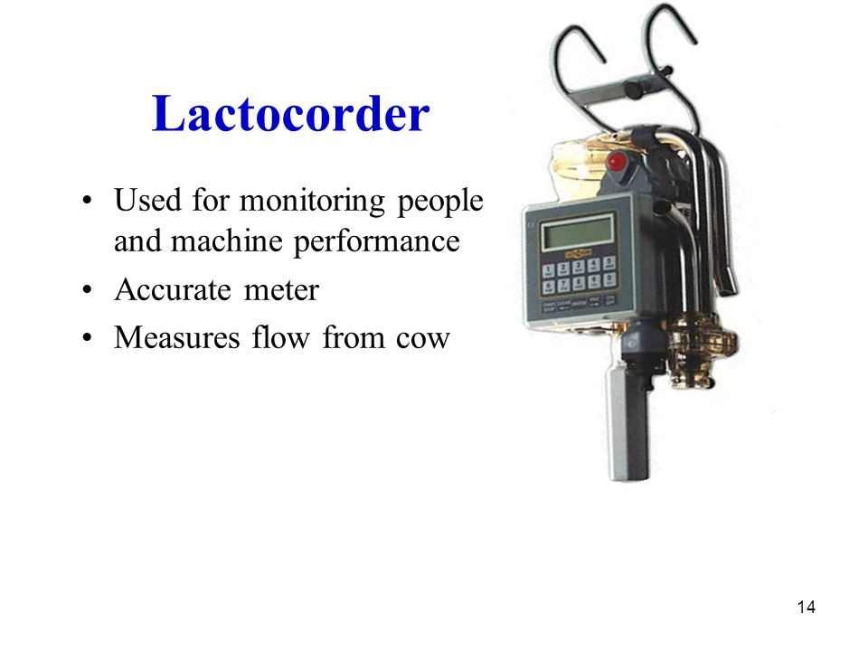 Lactocorder Used for monitoring people and machine performance