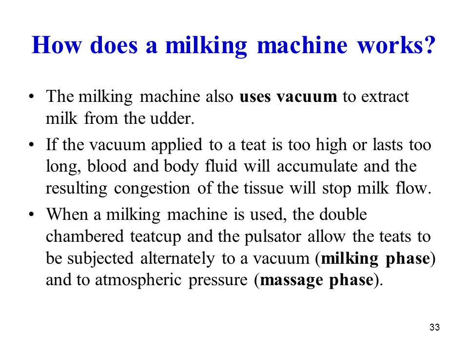 How does a milking machine works