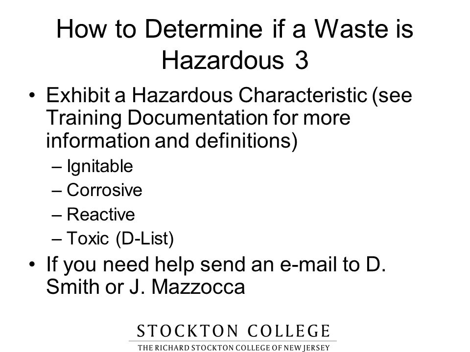 How to Determine if a Waste is Hazardous 3