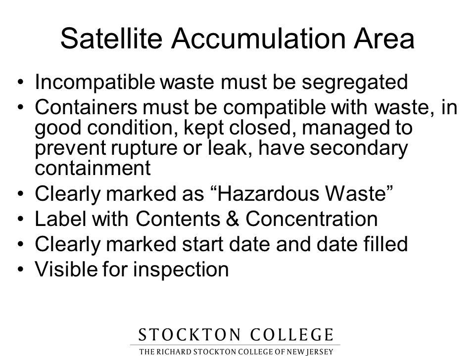 Satellite Accumulation Area