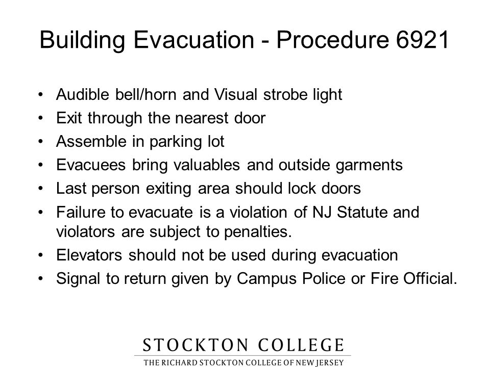 Building Evacuation - Procedure 6921