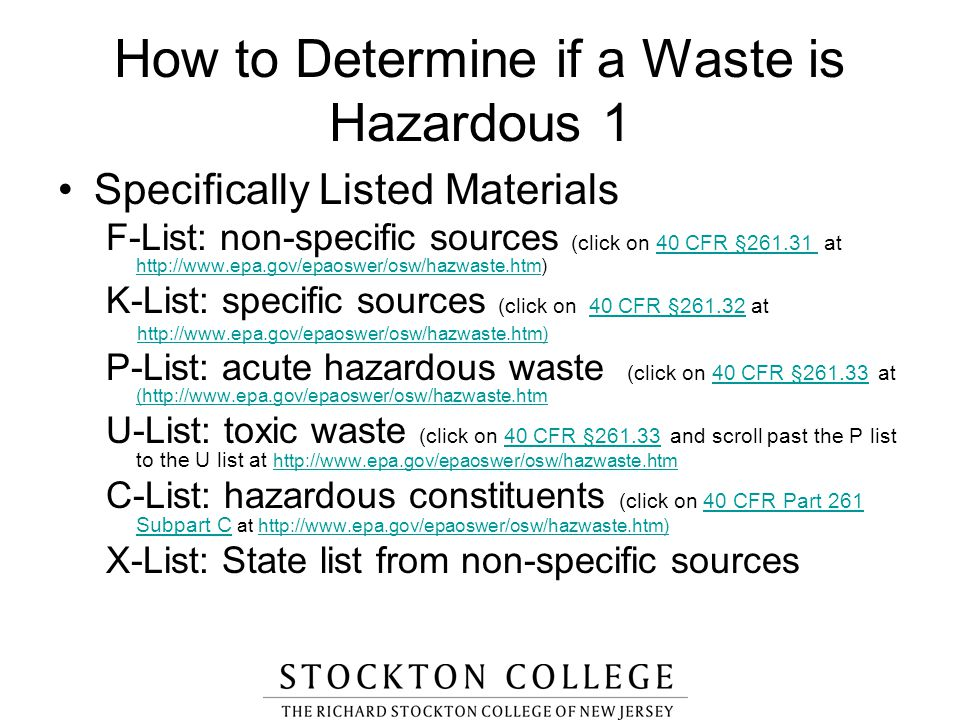 How to Determine if a Waste is Hazardous 1