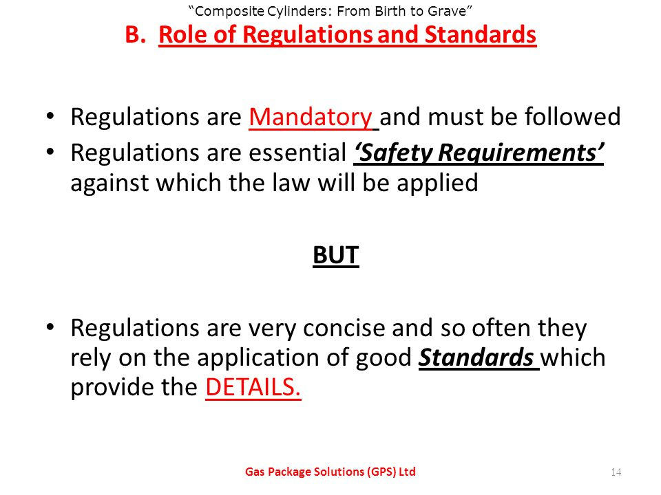 B. Role of Regulations and Standards