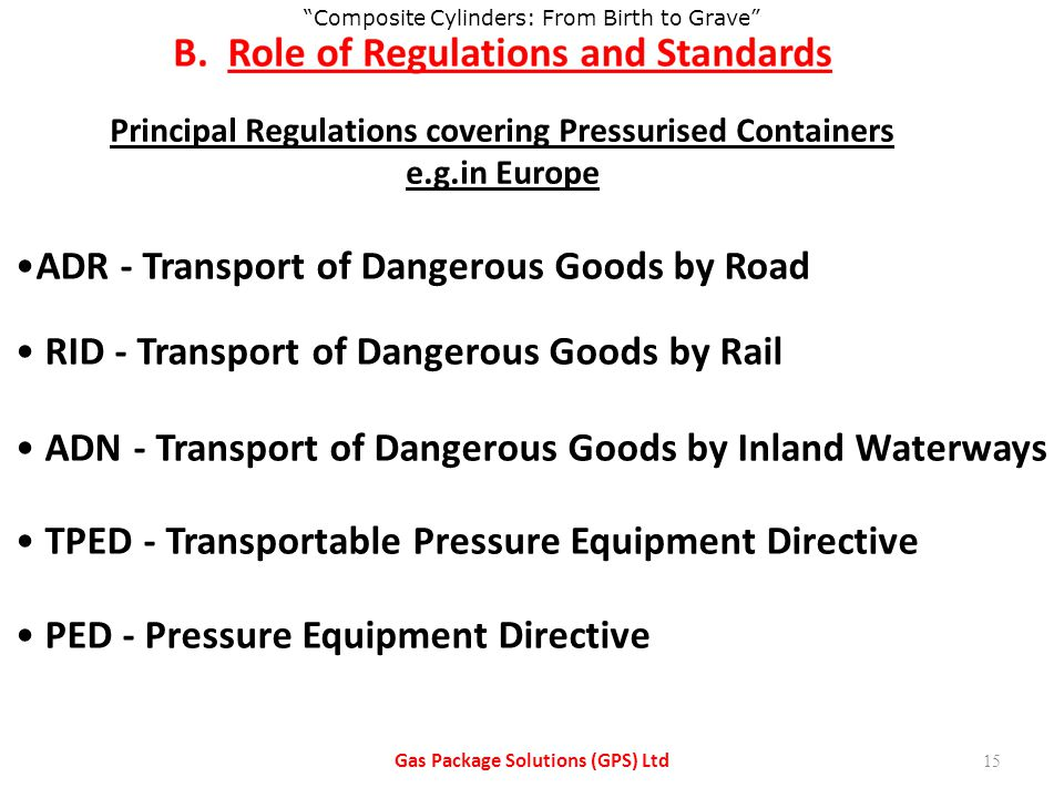 ADR - Transport of Dangerous Goods by Road