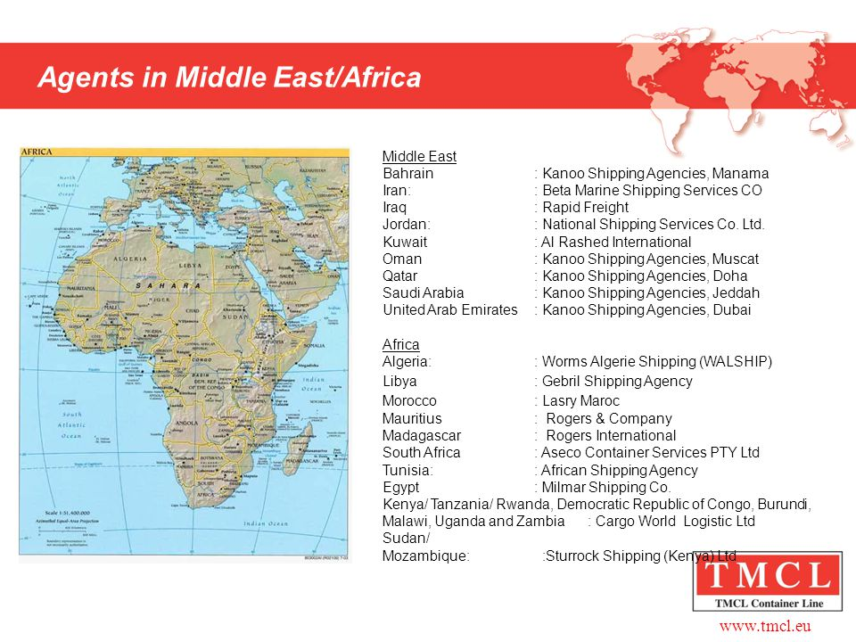 Agents in Middle East/Africa
