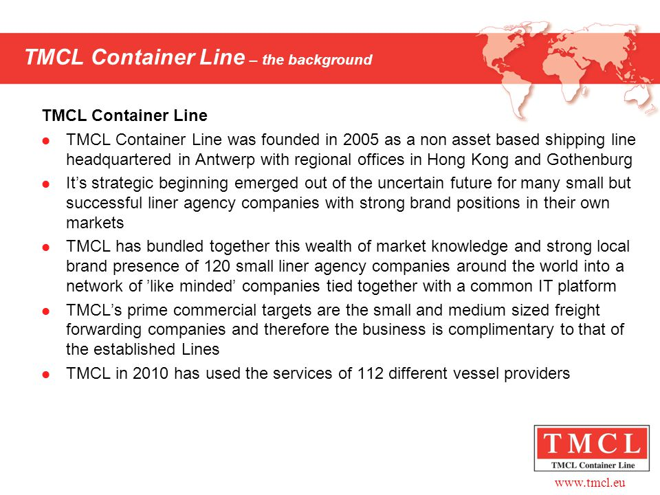 TMCL Container Line – the background