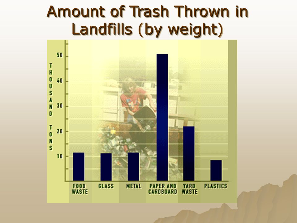 Amount of Trash Thrown in Landfills (by weight)