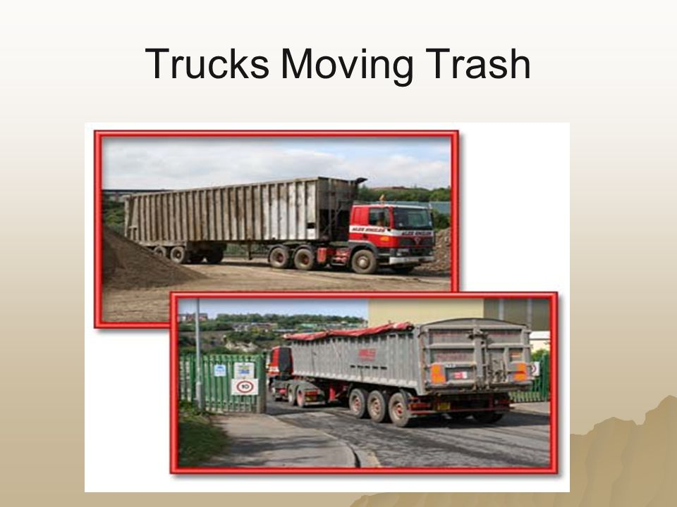 Trucks Moving Trash