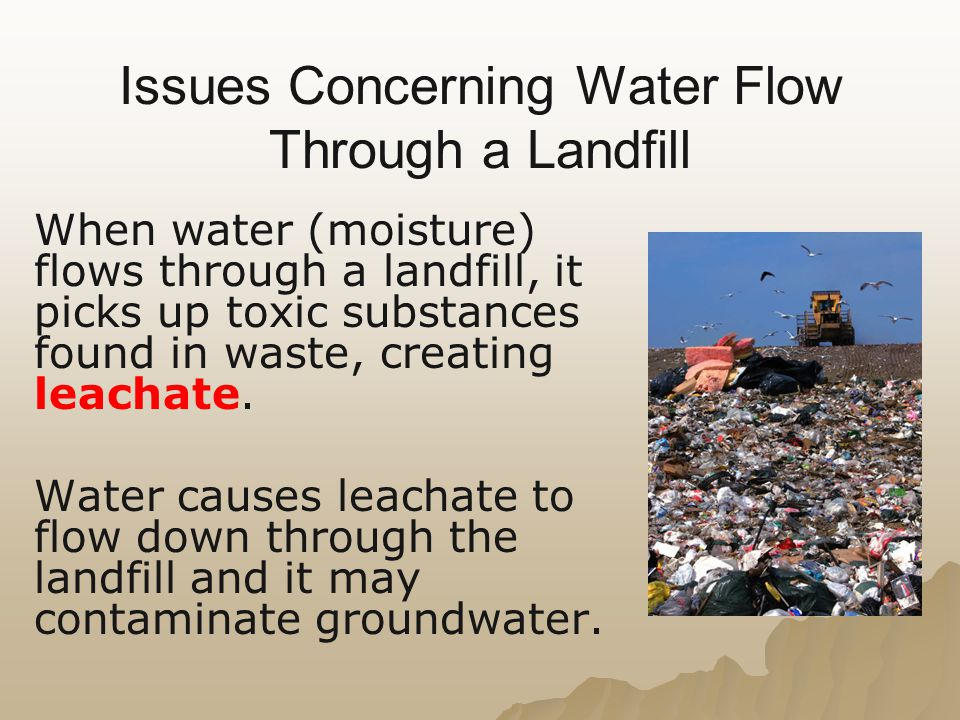 Issues Concerning Water Flow Through a Landfill