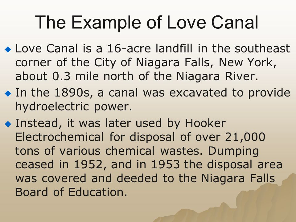The Example of Love Canal
