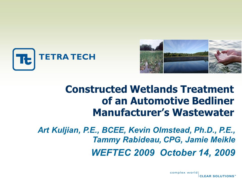 Constructed Wetlands Treatment of an Automotive Bedliner Manufacturer's Wastewater