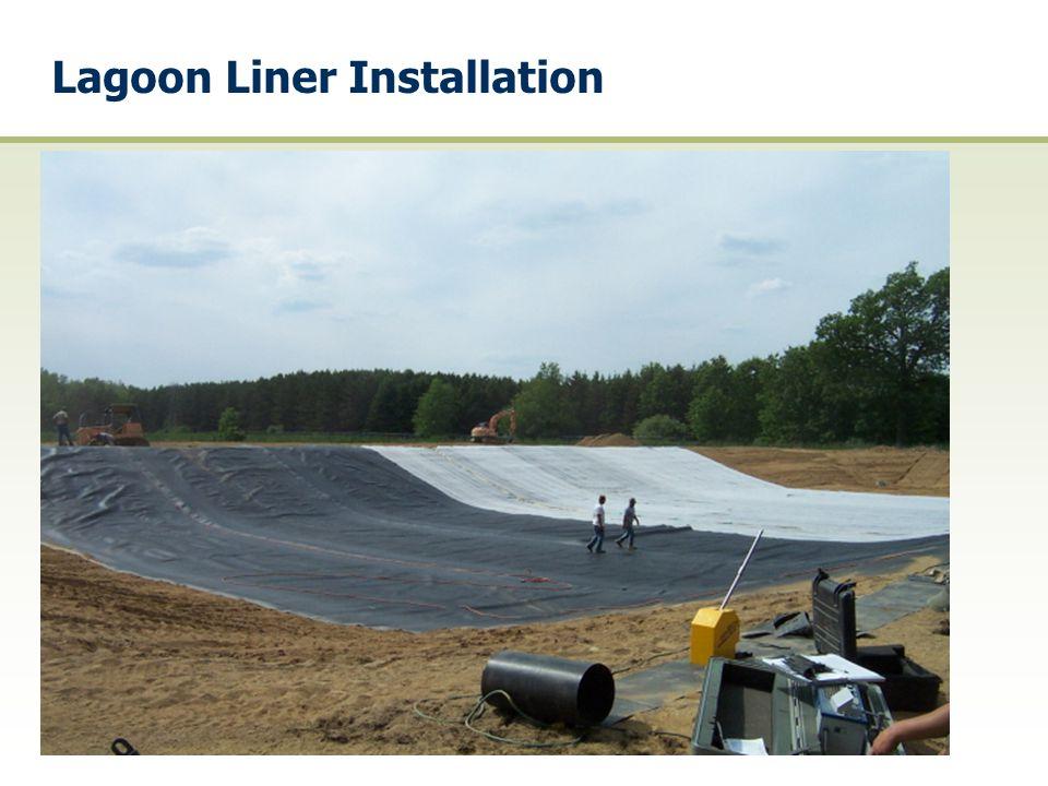Lagoon Liner Installation