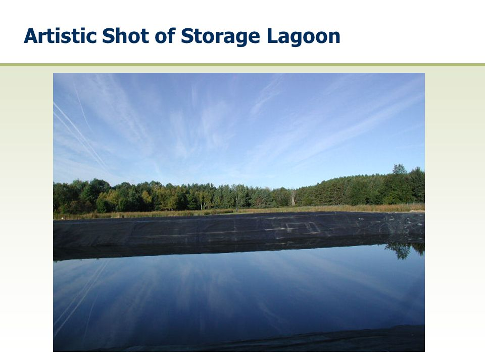 Artistic Shot of Storage Lagoon
