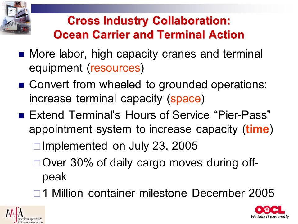 Cross Industry Collaboration: Ocean Carrier and Terminal Action