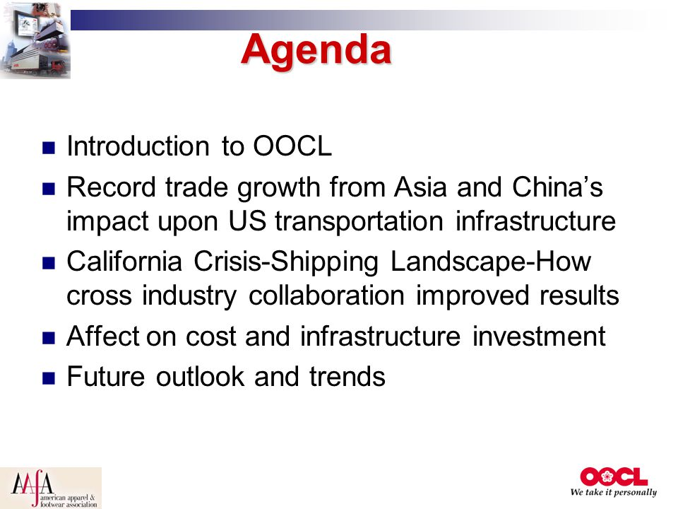 Agenda Introduction to OOCL