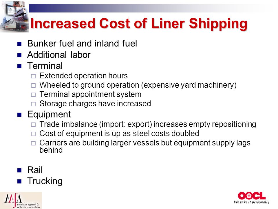 Increased Cost of Liner Shipping
