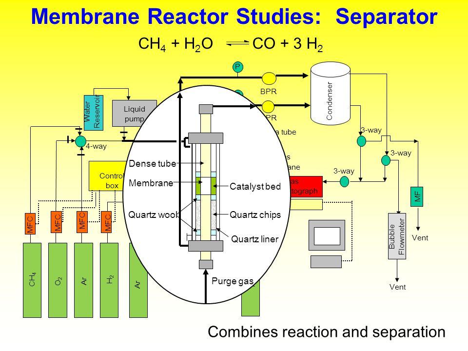 Membrane Reactor Studies: Separator