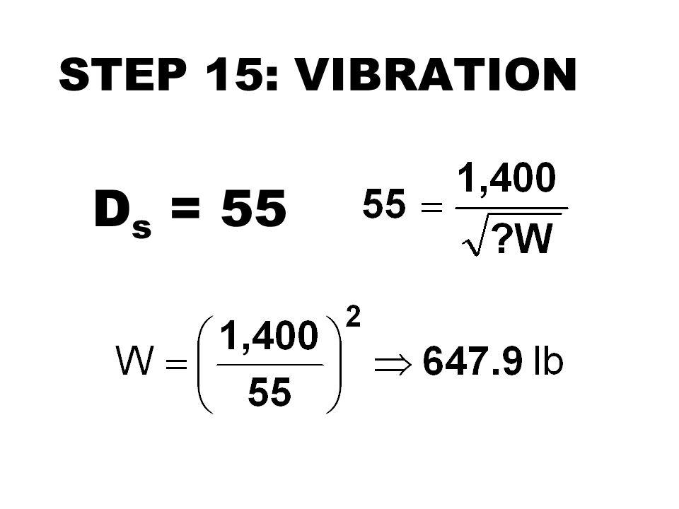 STEP 15: VIBRATION Ds = 55