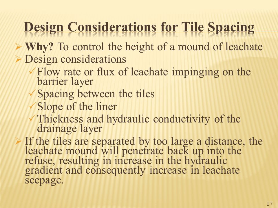 Design Considerations for Tile Spacing