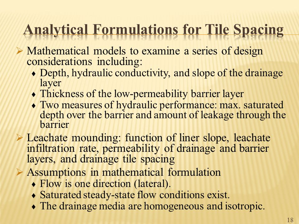 Analytical Formulations for Tile Spacing