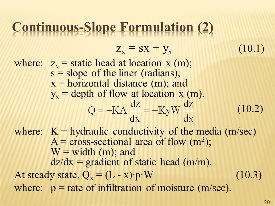 Continuous-Slope Formulation (2)