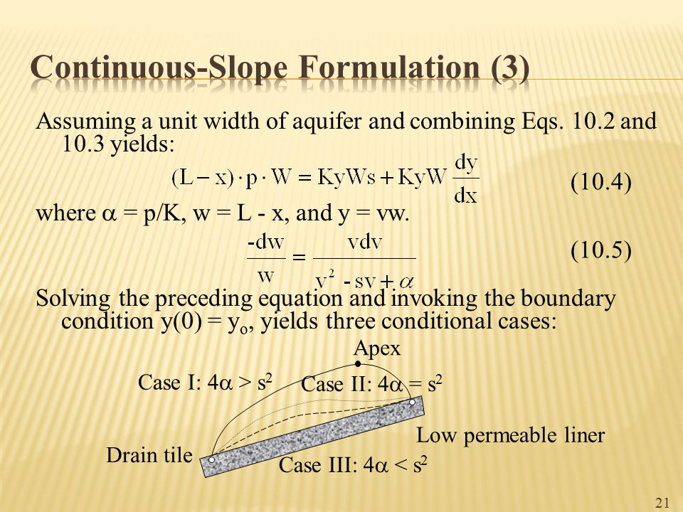 Continuous-Slope Formulation (3)