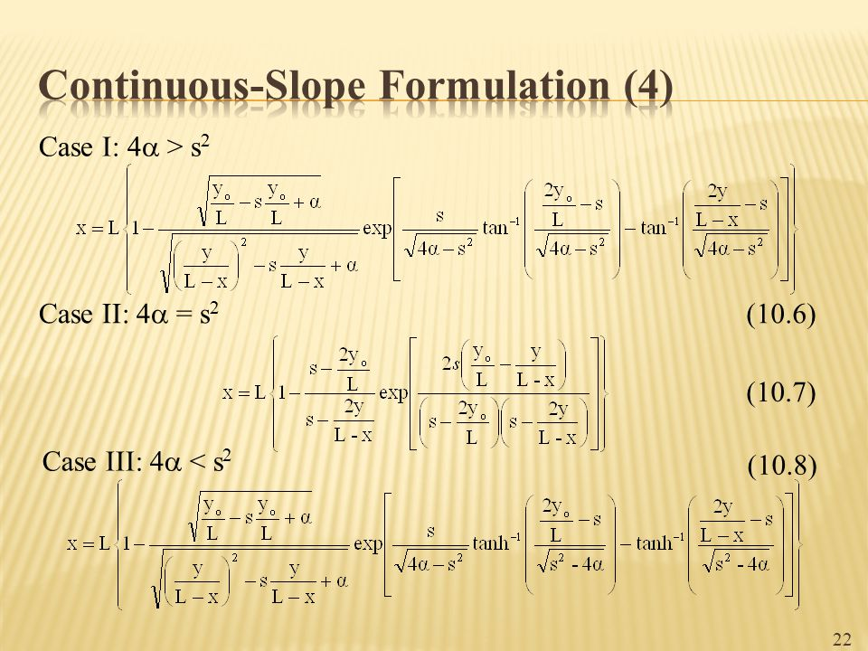 Continuous-Slope Formulation (4)