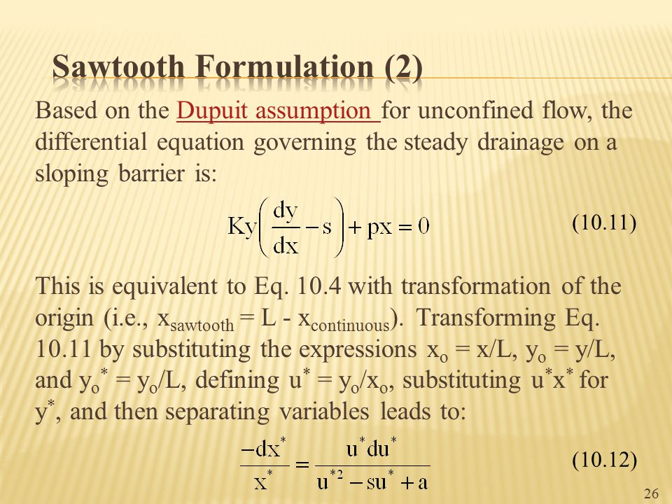 Sawtooth Formulation (2)