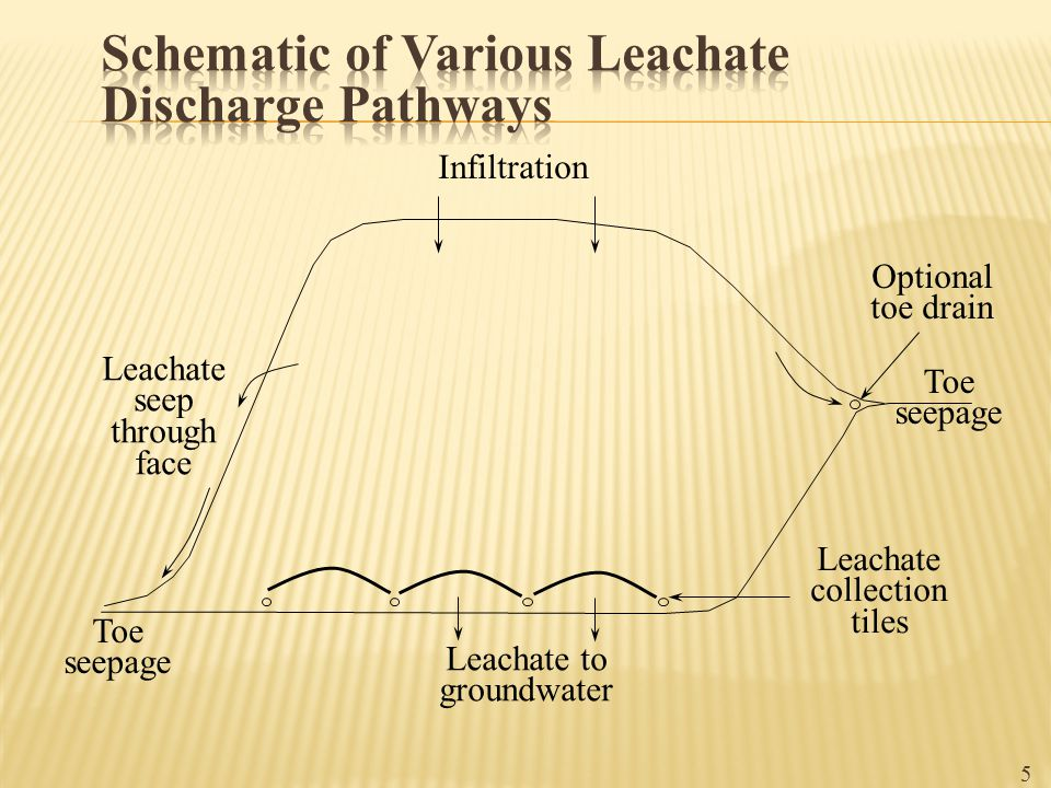 Schematic of Various Leachate Discharge Pathways