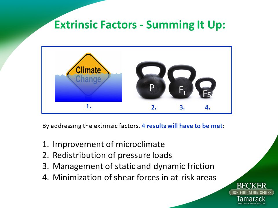Extrinsic Factors - Summing It Up: