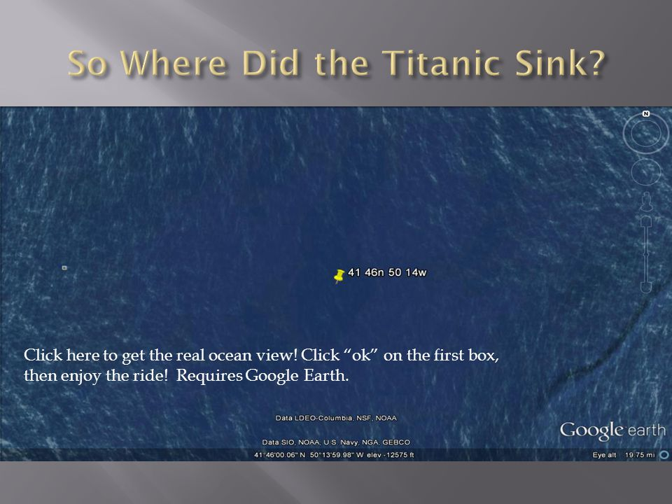 So Where Did the Titanic Sink