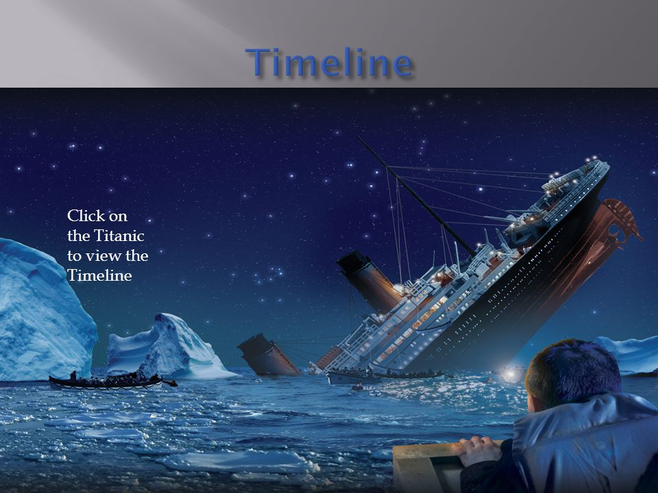 Timeline Click on the Titanic to view the Timeline