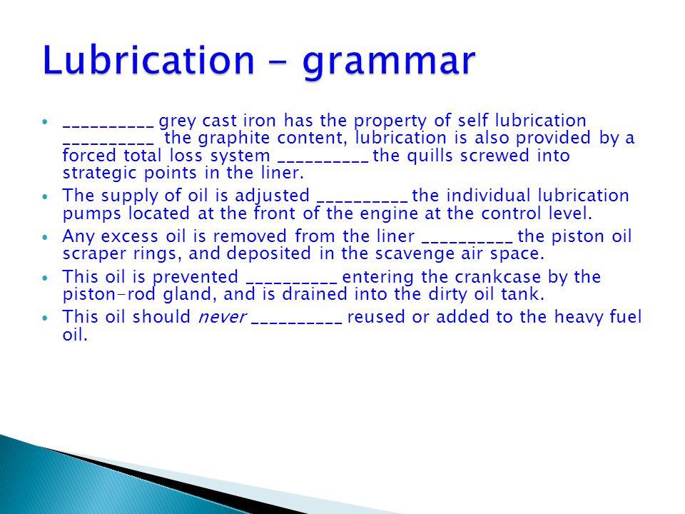 Lubrication - grammar