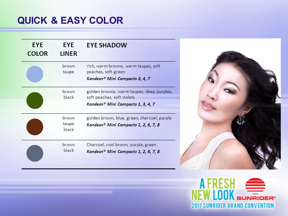 QUICK & EASY COLOR EYE COLOR EYE LINER EYE SHADOW brown taupe