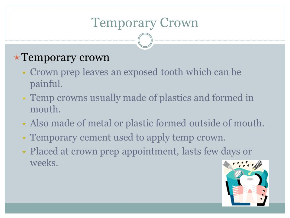 Temporary Crown Temporary crown
