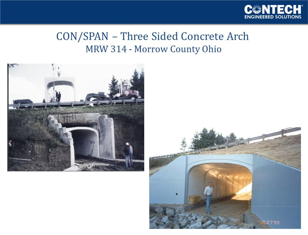 CON/SPAN – Three Sided Concrete Arch MRW 314 - Morrow County Ohio