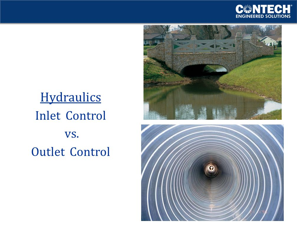 Hydraulics Inlet Control vs. Outlet Control